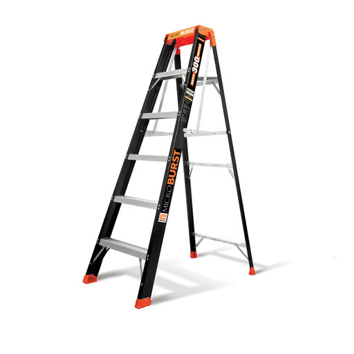 View a Larger Image of Little Giant MicroBurst Fiberglass Ladder 6'