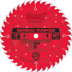 "LU72R010 General Purpose Saw Blade 10"" x 5/8"" bore x 40 Tooth Hi-ATB"