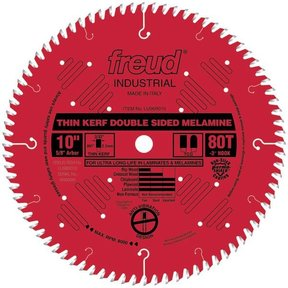 "LU96R010 Red Circular Saw Blade 10"" x 5/8"" Bore x 80 Tooth TCG Thin Kerf"