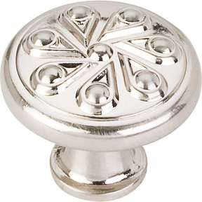 "Luxe Knob, 1-3/16"" Dia.,  Satin Nickel"