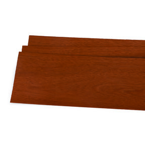 "Mahogany 1/16"" Thick 4-1/2"" to 7-1/2"" Width 3 sq ft Pack Wood Veneer"