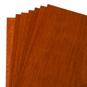 "Mahogany 8"" x 8"" 7 pc Pack Wood Veneer"
