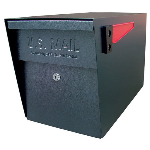 View a Larger Image of Locking Security Mailbox, Black