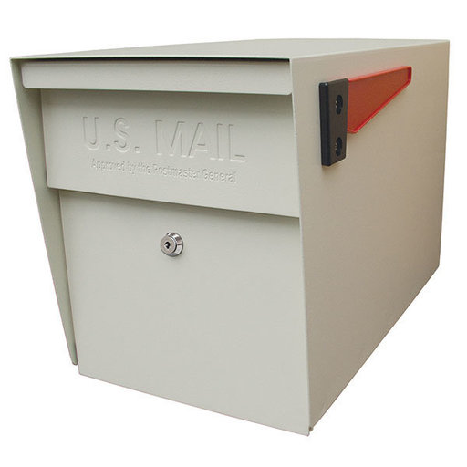 View a Larger Image of Locking Security Mailbox, White