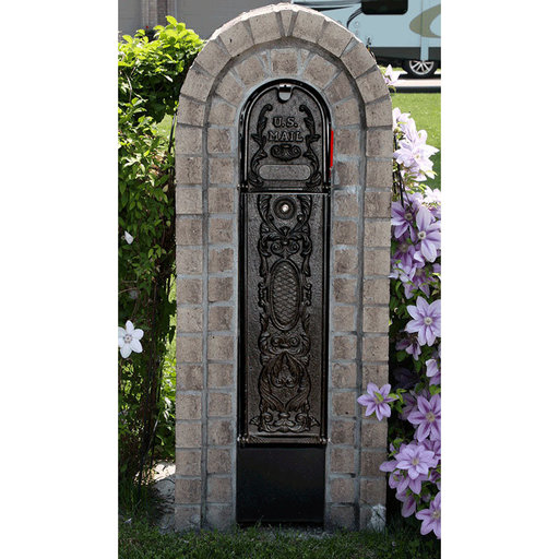 View a Larger Image of MailKeeper Locking Mailbox with Classic Design Front - Black