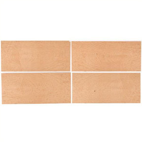 "Maple, Birdseye 8"" x 18"" 4 pc Pack Wood Veneer"