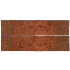 "Maple Burl 8"" x 18"" 4 pc Pack Wood Veneer"