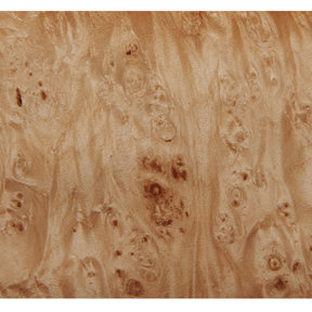 Maple Burl Veneer Sheet 4' x 8' 2-Ply Wood on Wood