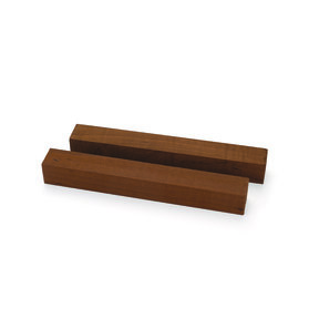 "Maple Figured Dark Roasted Thermally Modified Pen Blank 3/4"" x 3/4"" x 6"" 2-piece"