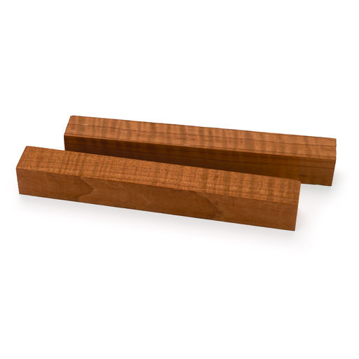 """View a Larger Image of Maple Figured Honey Roasted Thermally Modified Pen Blank 3/4"""" x 3/4"""" x 6"""" 2-piece"""