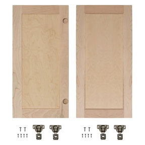 Maple Flat Panel Accessory Doors for 32 in. InvisiDoor Bookcase Door