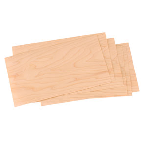 "Maple 4-1/2"" to 6-1/2"" Width 3 sq ft Pack Wood Veneer"