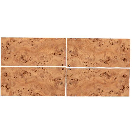"View a Larger Image of Mappa Burl Veneer 8"" x 18"" Sequence Matched 4-piece"