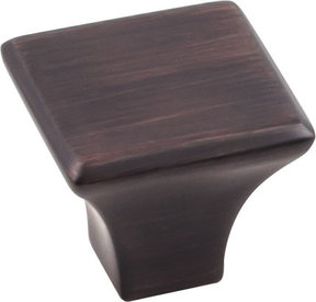 "Marlo Knob, 1-1/8"" O.L.,  Brushed Oil Rubbed Bronze"