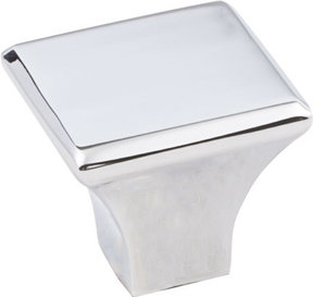 "Marlo Knob, 1-1/8"" O.L.,  Polished Chrome"