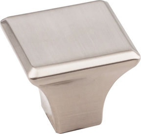 "Marlo Knob, 1-1/8"" O.L.,  Satin Nickel"