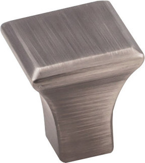 "Marlo Small Knob, 7/8"" O.L., Brushed Pewter"