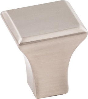 "Marlo Small Knob, 7/8"" O.L., Satin Nickel"
