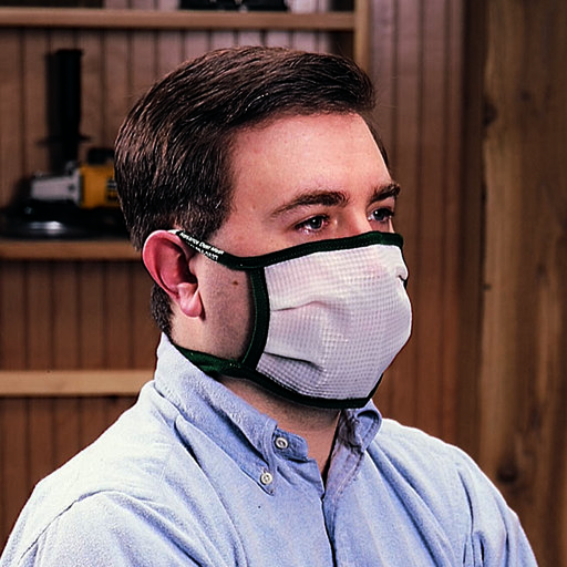 View a Larger Image of Medium Dust Bee Gone Mask - Blue Edging