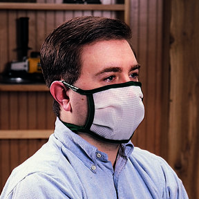 Medium Dust Bee Gone Mask - Blue Edging