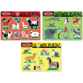 Melissa & Doug Animal Sounds Puzzle Bundle