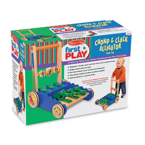 Melissa & Doug Chomp and Clack Alligator Push Toy