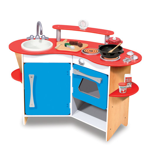 View a Larger Image of Melissa & Doug Cook's Corner Wooden Kitchen
