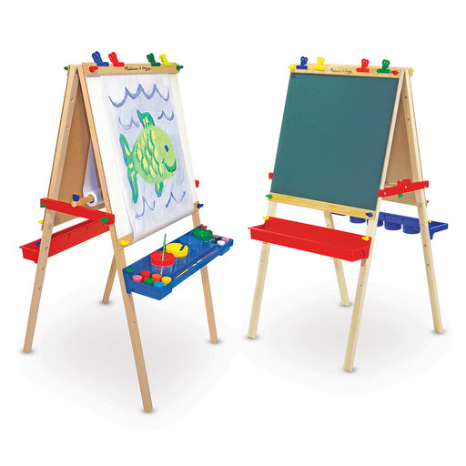 View a Larger Image of Melissa & Doug Deluxe Wooden Standing Art Easel