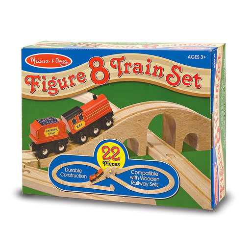 View a Larger Image of Melissa & Doug Figure 8 Train Set