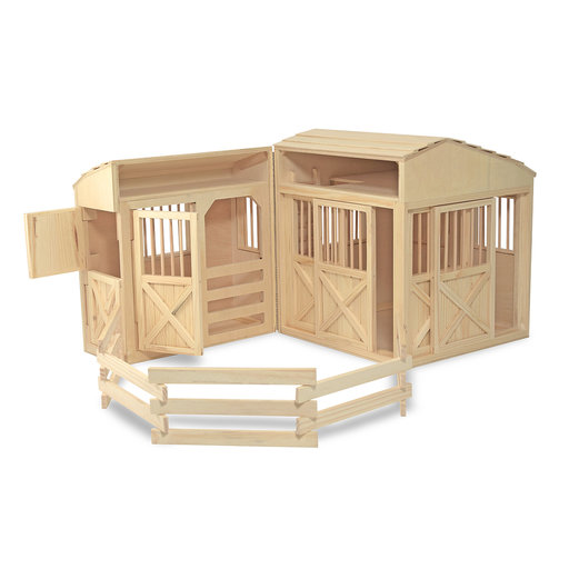 View a Larger Image of Melissa & Doug Folding Horse Stable