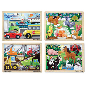 Melissa & Doug Jigsaw Puzzle Bundle, 4-Piece