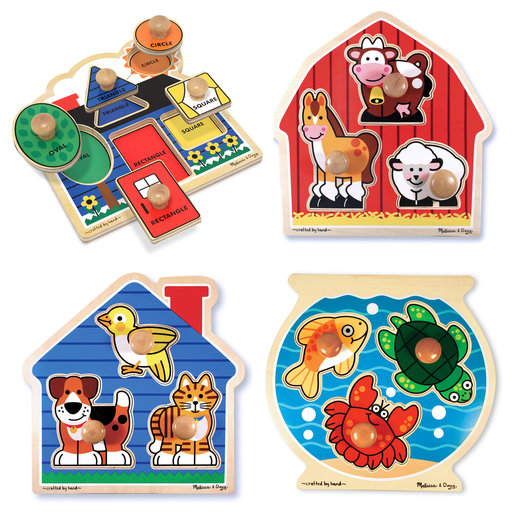 View a Larger Image of Jumbo Knob Puzzle Bundle