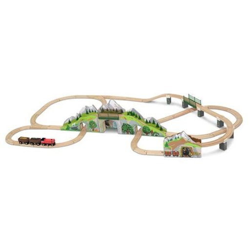 View a Larger Image of Melissa & Doug Mountain Tunnel Train Set