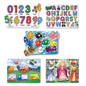 Melissa & Doug Peg Puzzle Bundle