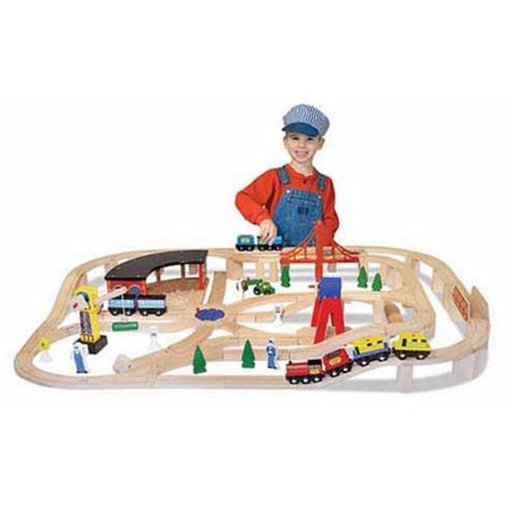 View a Larger Image of Wooden Railway Set