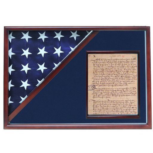 View a Larger Image of Memorial Flag and Doc Case, Cherry, Black Velvet background