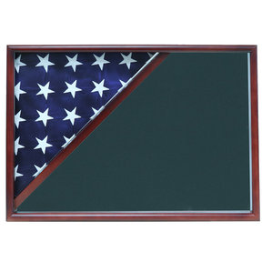Memorial Flag Case, Cherry, Army Green background
