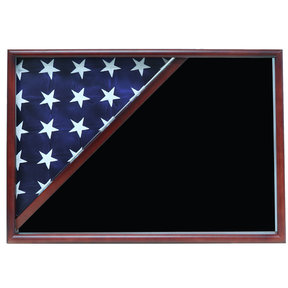Memorial Flag Case, Cherry, Black Velvet background