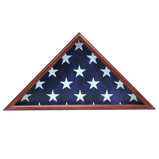 View a Larger Image of Memorial Flag Case, Cherry