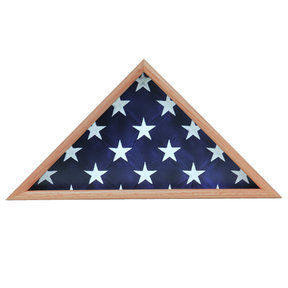 Memorial Flag Case, Oak