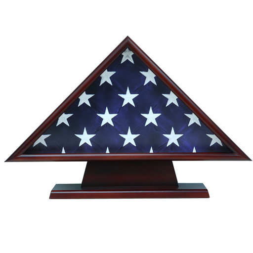 View a Larger Image of Memorial Flag Case, with Pedestal Cherry