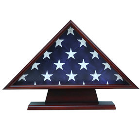 Memorial Flag Case, with Pedestal Cherry
