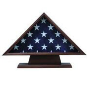 Memorial Flag Case, with Pedestal Walnut