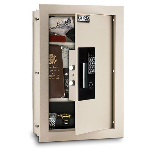 View a Larger Image of Mesa Adjustable Wall Safe,  0.3-0.7 cu.ft., Cream, Model MAWS2113E