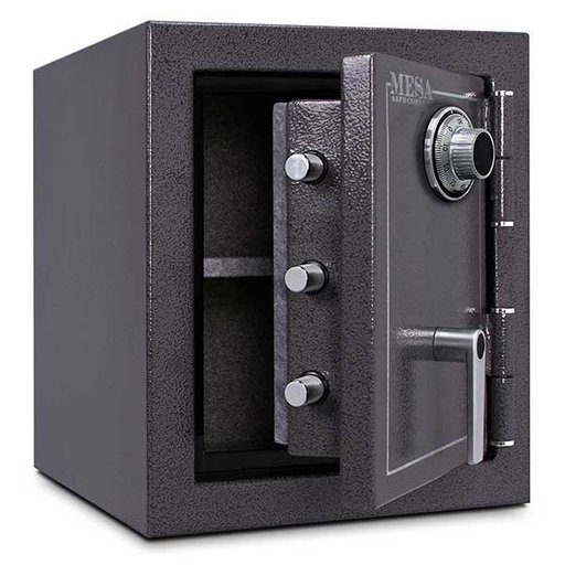 View a Larger Image of Mesa Burglary and Fire Safe with Combination Lock, 1.7 cu.ft., Hammered Grey, Model MBF1512C