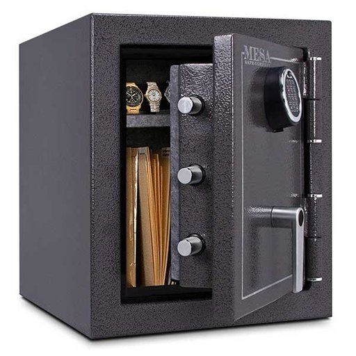 View a Larger Image of Mesa Burglary and Fire Safe with Electronic Lock, 1.7 cu.ft., Hammered Grey, Model MBF1512E