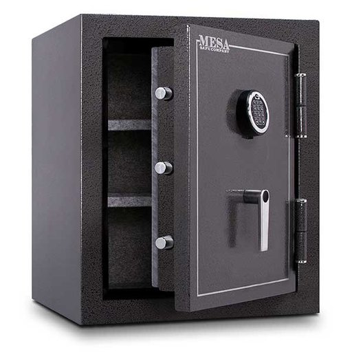 View a Larger Image of Mesa Burglary and Fire Safe with Electronic Lock, 4.1 cu.ft. , Hammered Grey, Model MBF2620E