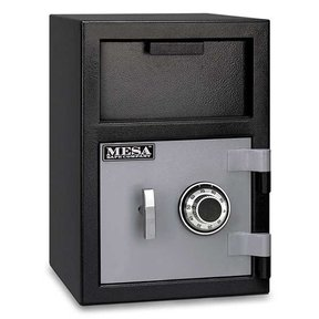 Mesa Depository Safe with Combination Lock, 0.8 cu. ft., Black and Gray, Model MFL2014C