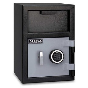 Mesa Depository Safe with Electronic Lock, 0.8 cu. ft., Black and Gray, Model MFL2014E