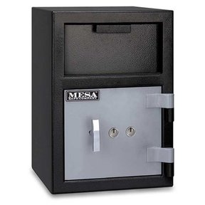 Mesa Depository Safe with Key Lock, 0.8 cu. ft., Black and Gray, Model MFL2014K